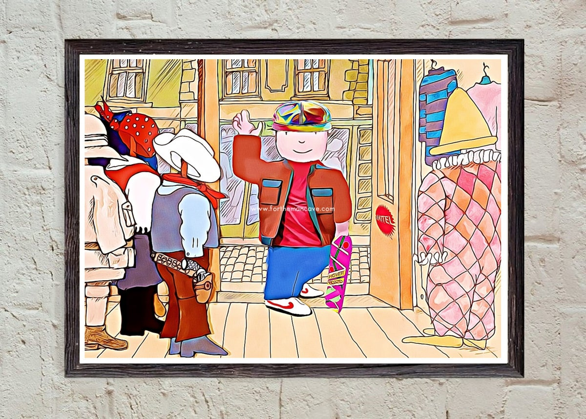 Image of MR BENN INSPIRED BACK TO THE FUTURE PRINT
