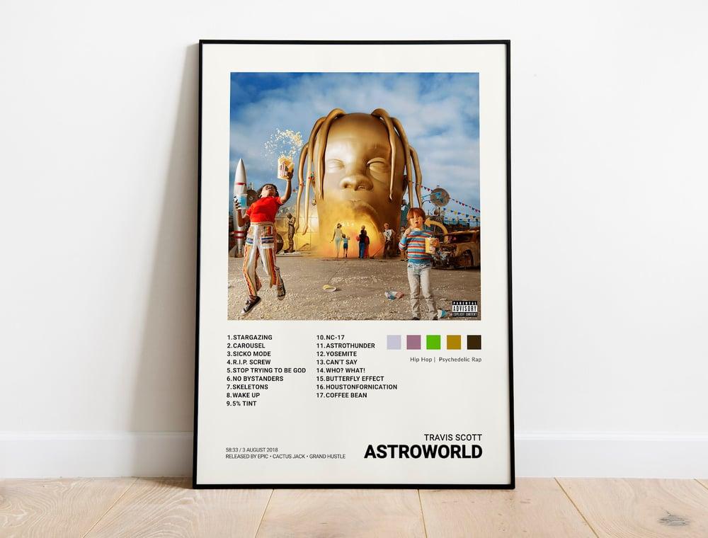 Travis Scott - Astroworld Album Cover Poster