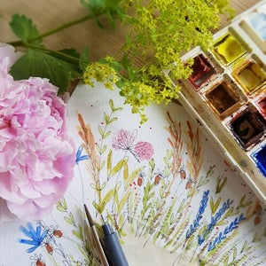 Image of Summer Posy & Watercolour Painting Workshop Thursday 29 July