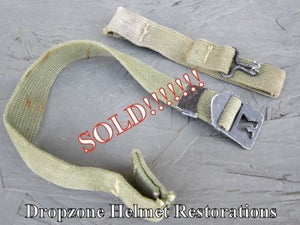 Image of Copy of WWII M-1 Helmet Infantry chin straps. Authentic / Original. (B)