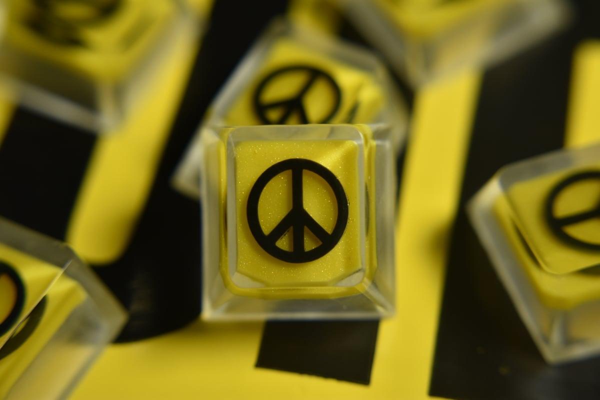 """Image of """"Caution"""" Peaceblanks"""