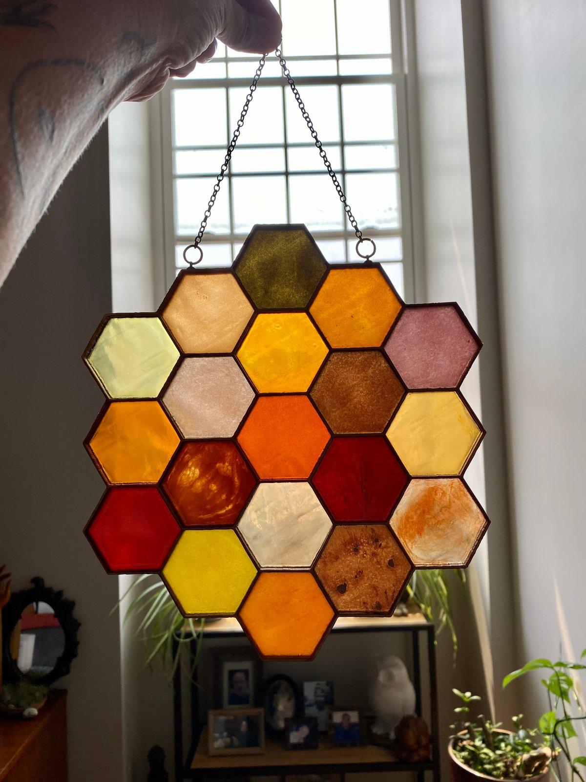 Image of Large Honeycomb Light Catcher B