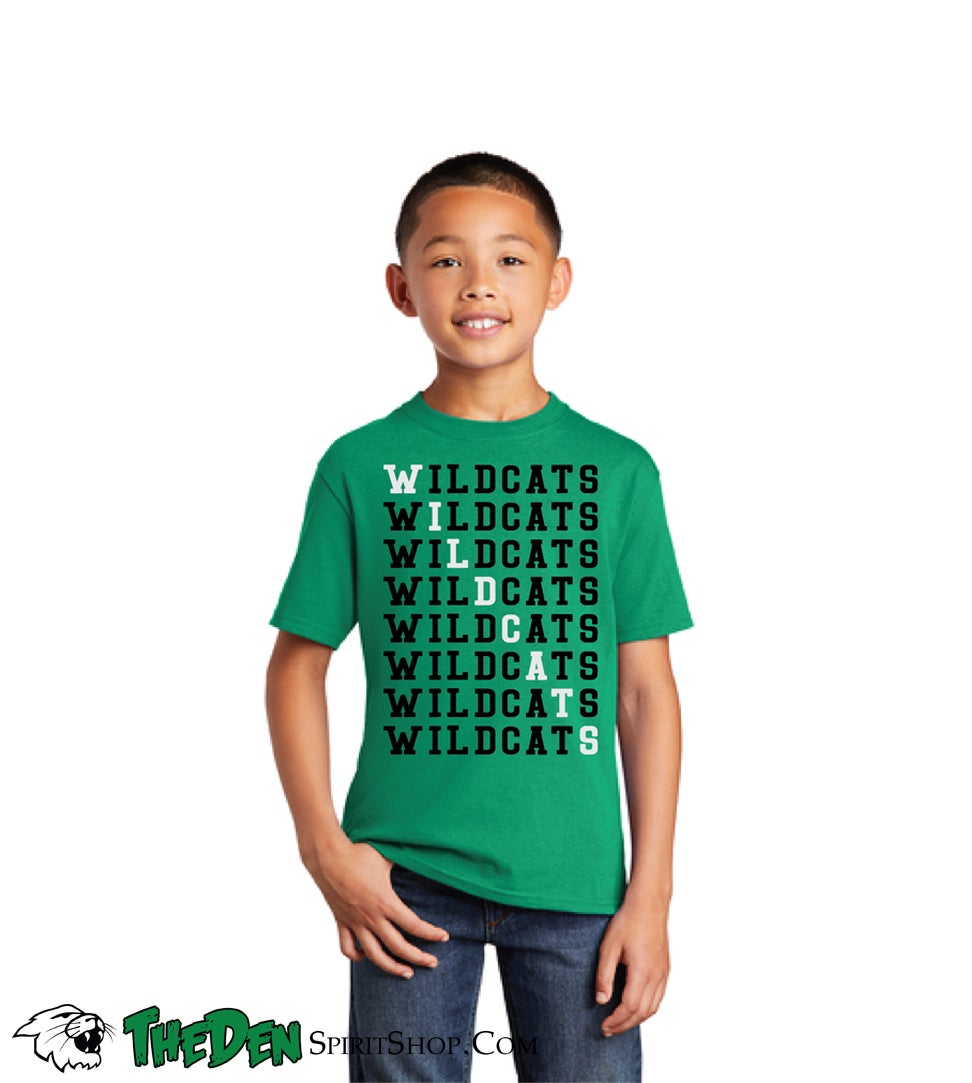 Image of YOUTH, Wildcats Tee, Green