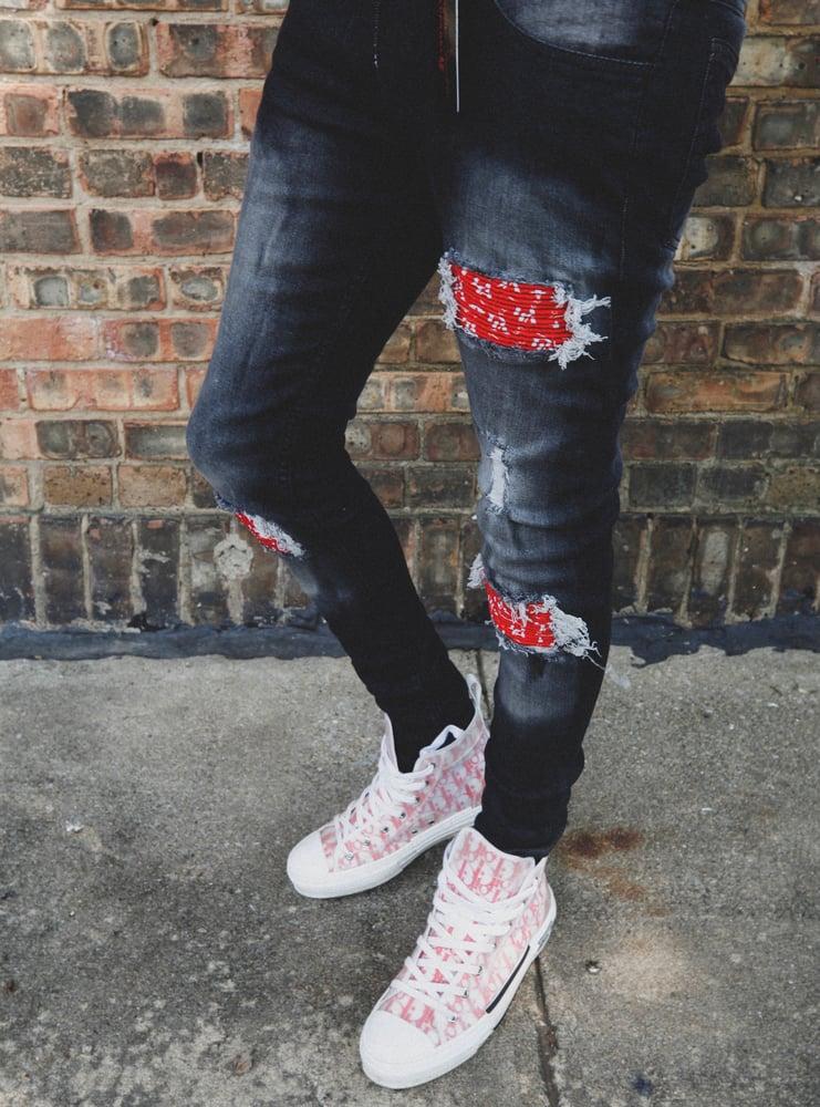 Image of Designer Junkie Patchwork Jeans