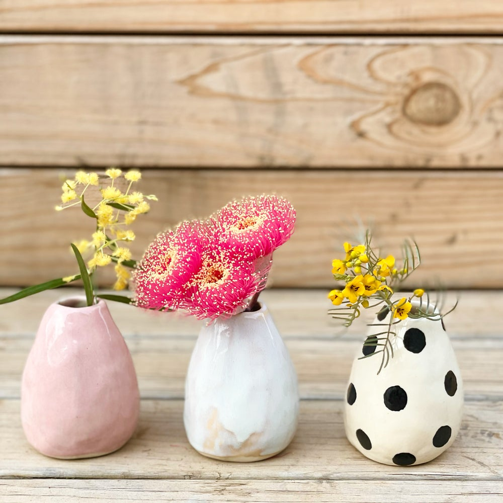 Image of Bud Vases, x3 colours to choose from.