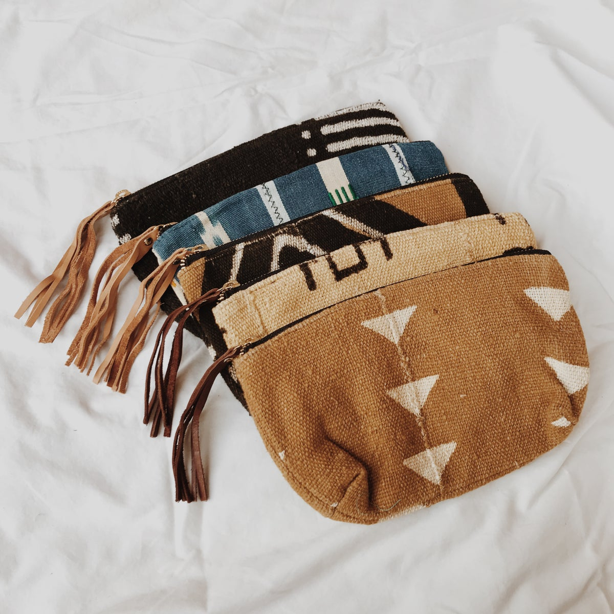 Image of Mudcloth Cosmetic Bags