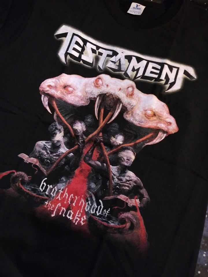 TESTAMENT BROTHERHOOD OF THE SNAKE T-SHIRT *IMPORTED*