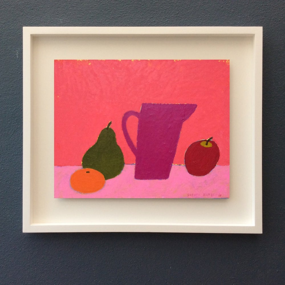 Image of Pink Jug and Fruit