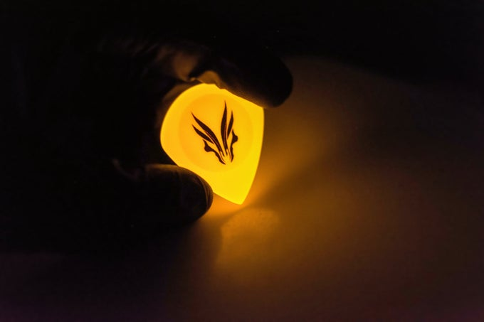 Image of World premiere 4mm 'LAVA GLOW' plectrums