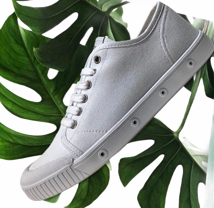 Image of Spring court G2 white organic cotton canvas sneaker shoes