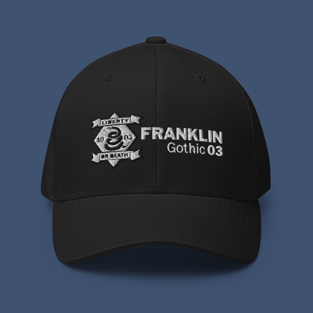 Image of TEAM FRANKLIN GOTHIC - 1903 FLEXFIT STRUCTURED CAP - BLACK