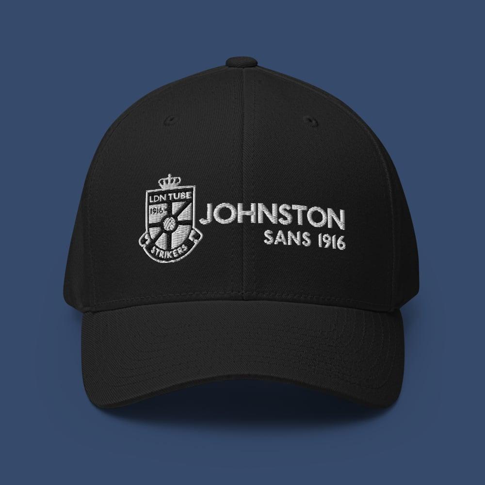 Image of TEAM ITC JOHNSTON 1916 - FLEXFIT STRUCTURED CAP (BLACK)