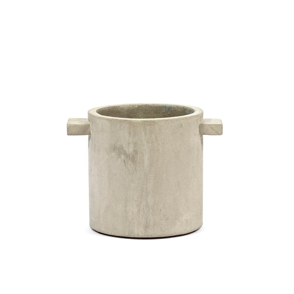 Image of Natural concrete Rond pot (medium) by Marie Michelssen
