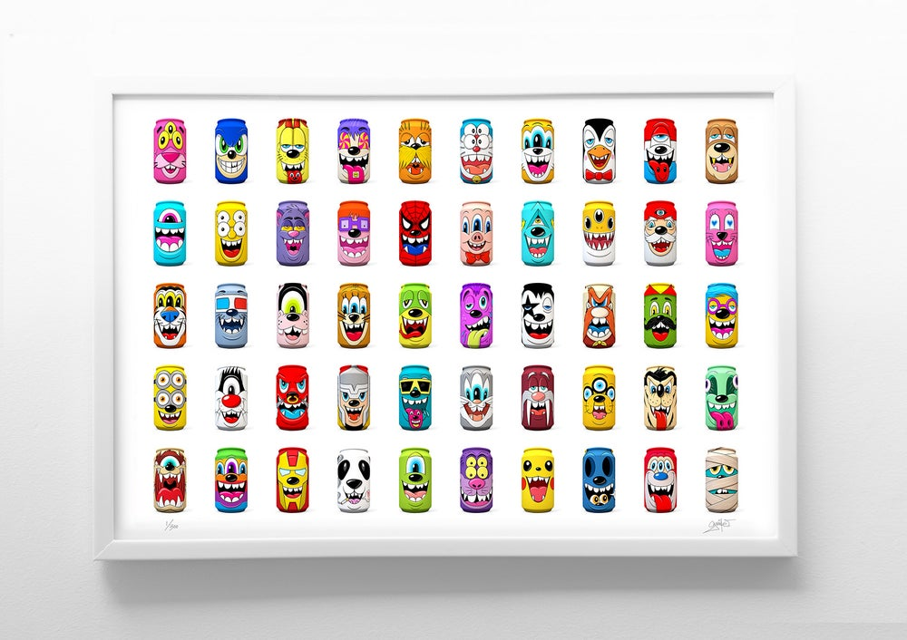 """Image of """"Mad Cans"""" Series 2 Print"""