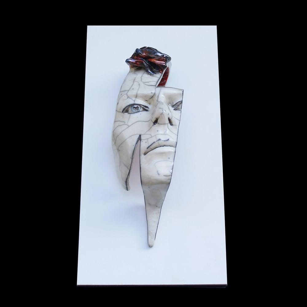'Flash' Raku Edition- David Bowie Face Sculpture