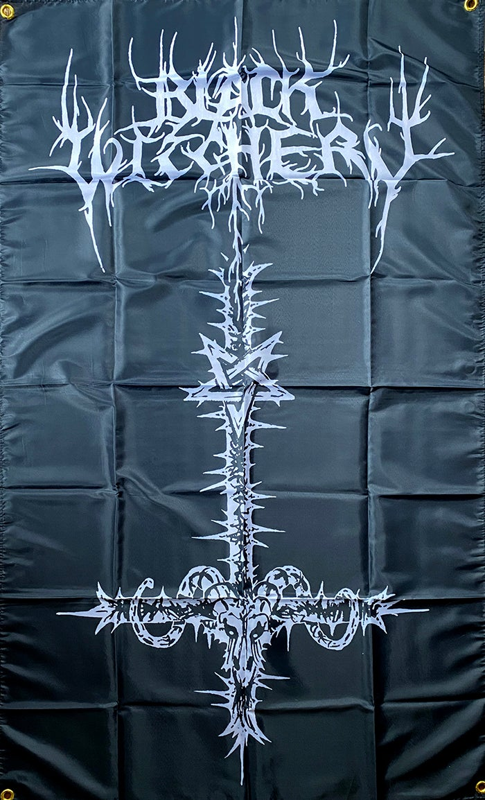 """Image of Black Witchery """" Inverted """" Flag / Banner / Tapestry"""