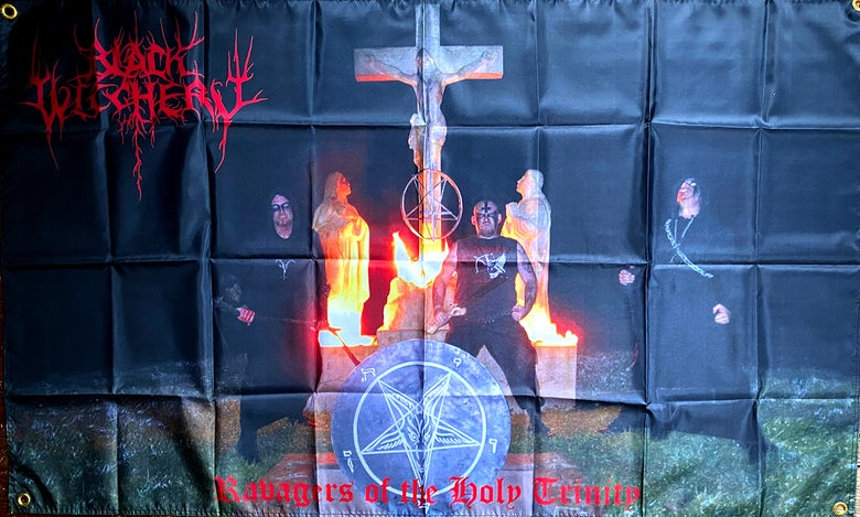 "Image of Black Witchery "" Grave Desecration ""  Banner / Flag / Tapestry"