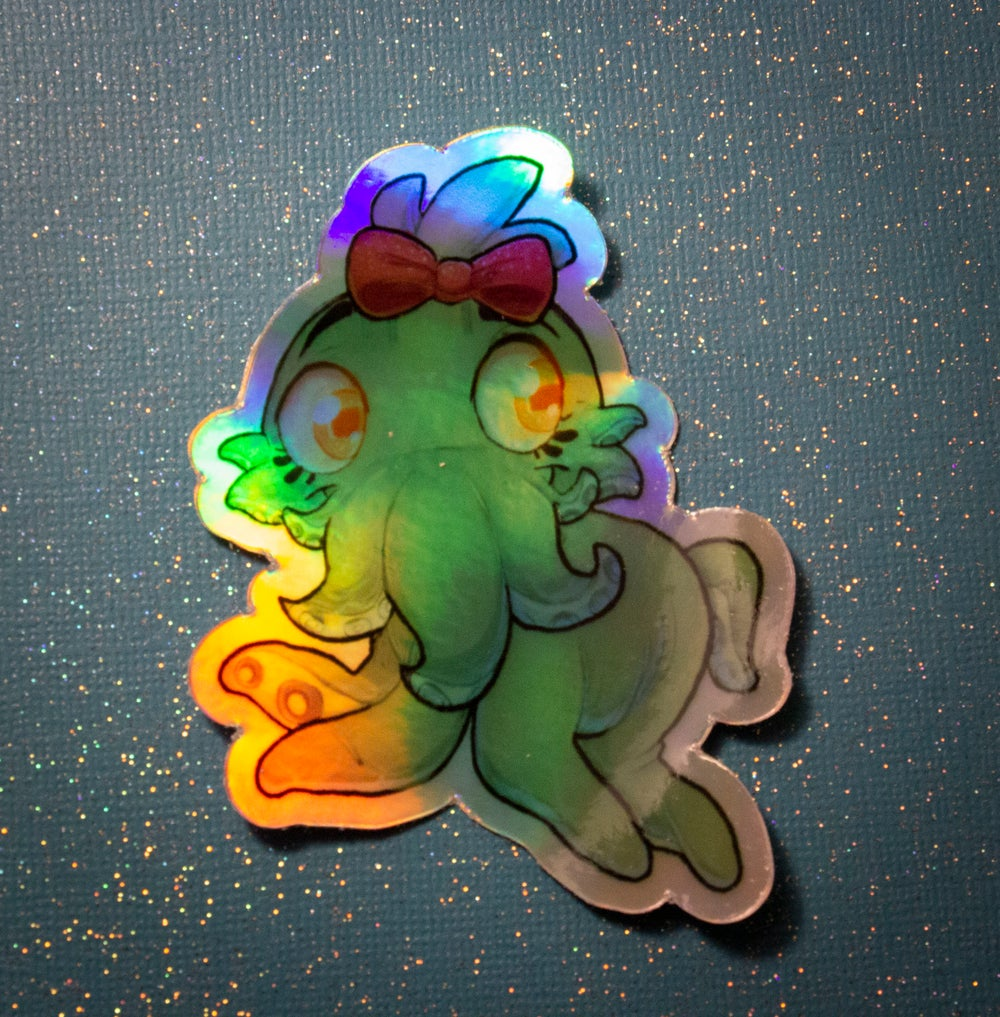 """""""My Lil Cthulhu"""" Holographic Sticker"""