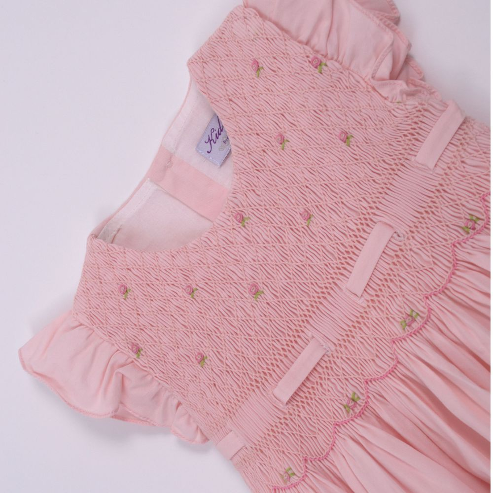 Image of Dreamy Pink Smocked Dress