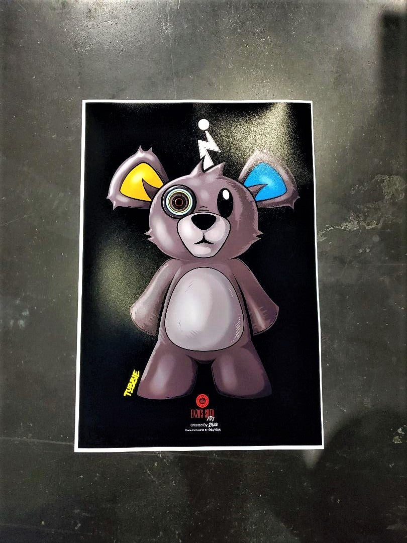 Image of Tubbie The Bear 13x19 Poster