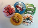 Comic Book Action Buttons | 1.5 Inch Buttons