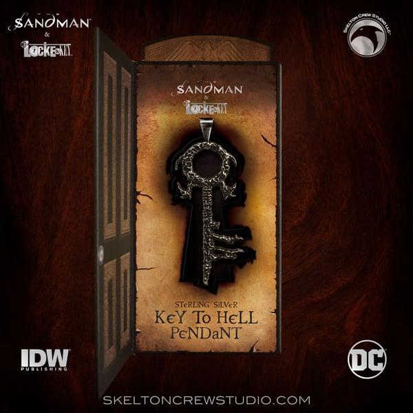 Image of Locke & Key/Sandman: Sterling Silver Key to Hell Pendant!