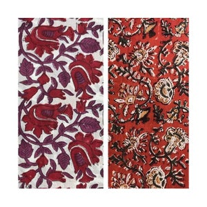 Image of Face Mask | India Block Print Ruby