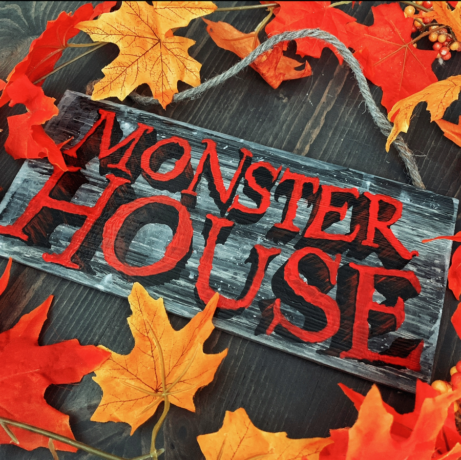 Image of Monster House Decor Sign