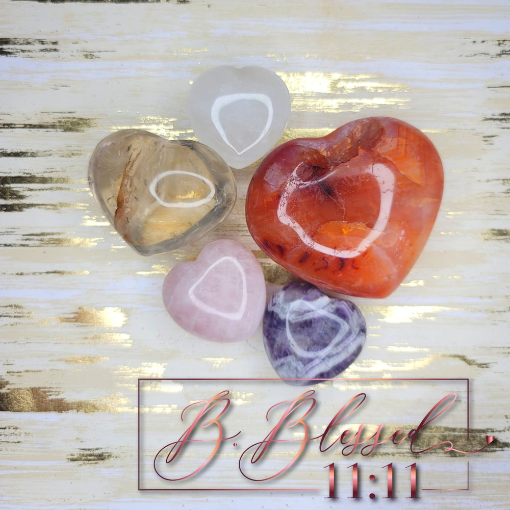 Image of Heart Shaped Crystal (Different Sizes)