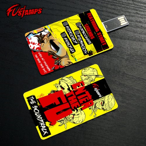 Image of FU-Stamps Enter The FU soundtrack collector USB card
