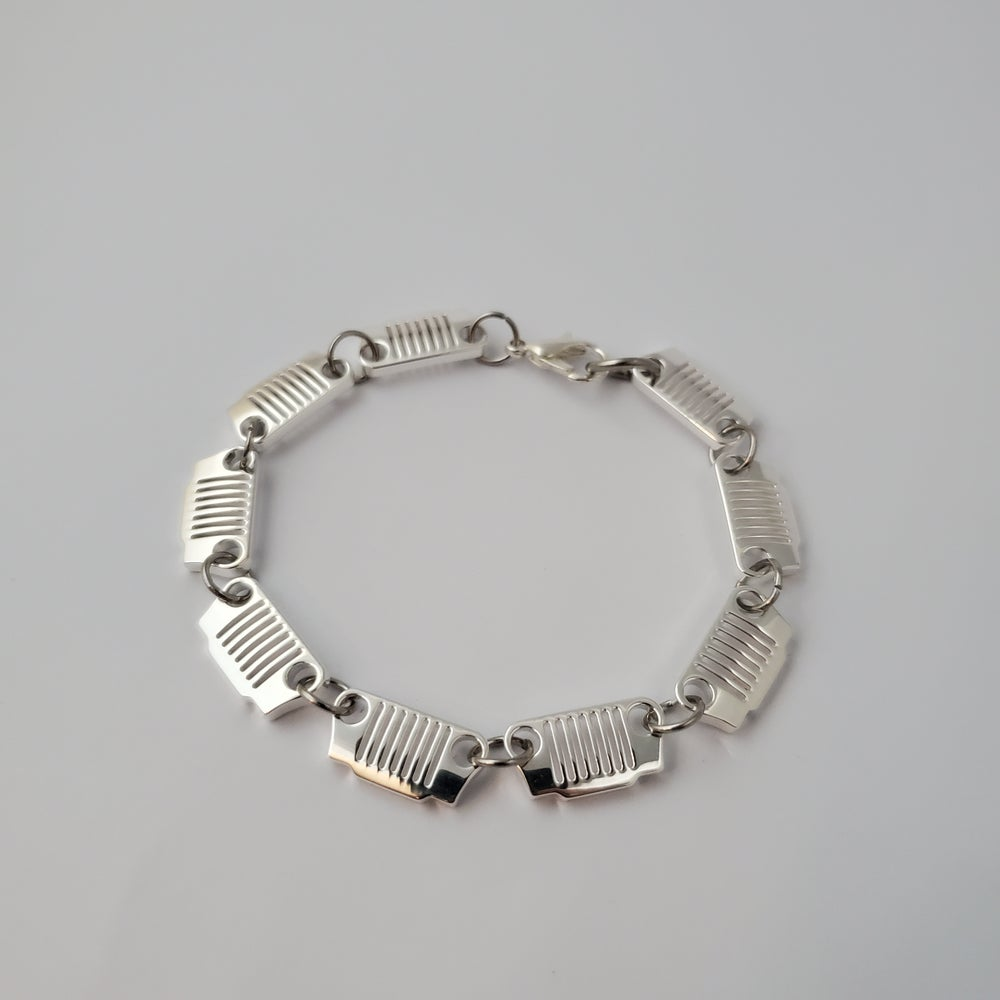 Image of JEEP Grill Bracelet - Sterling Silver