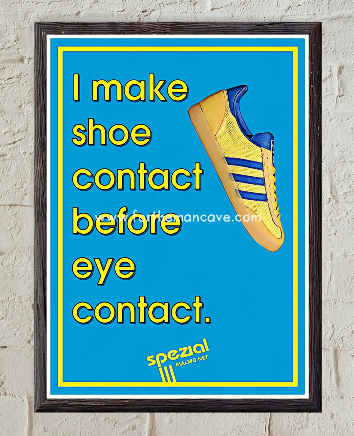 """Image of SPEZIAL MALMO NET """"SHOE CONTACT FIRST"""" - PRINT"""