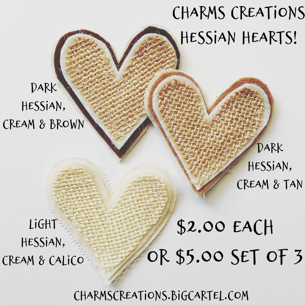 Image of MADE TO ORDER Hessian Hearts!