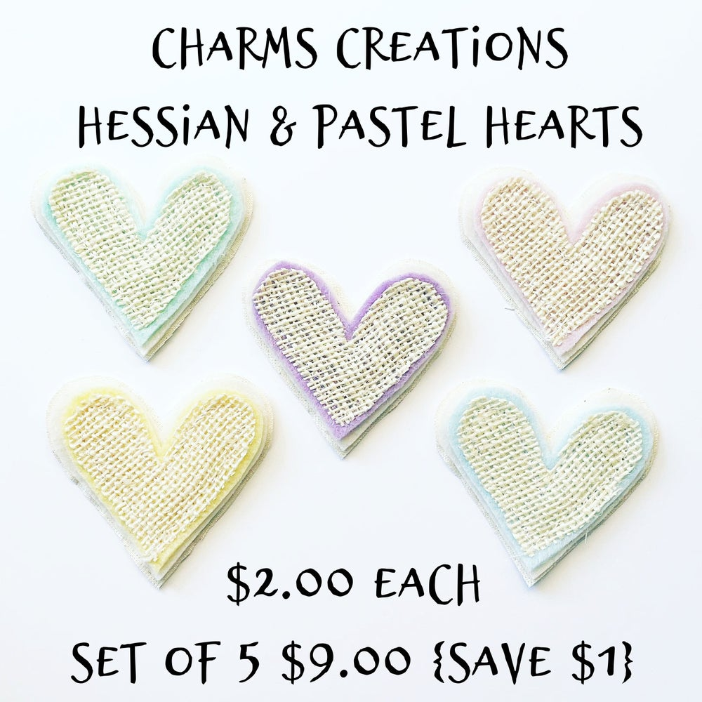 Image of MADE TO ORDER Hessian & Pastel Hearts