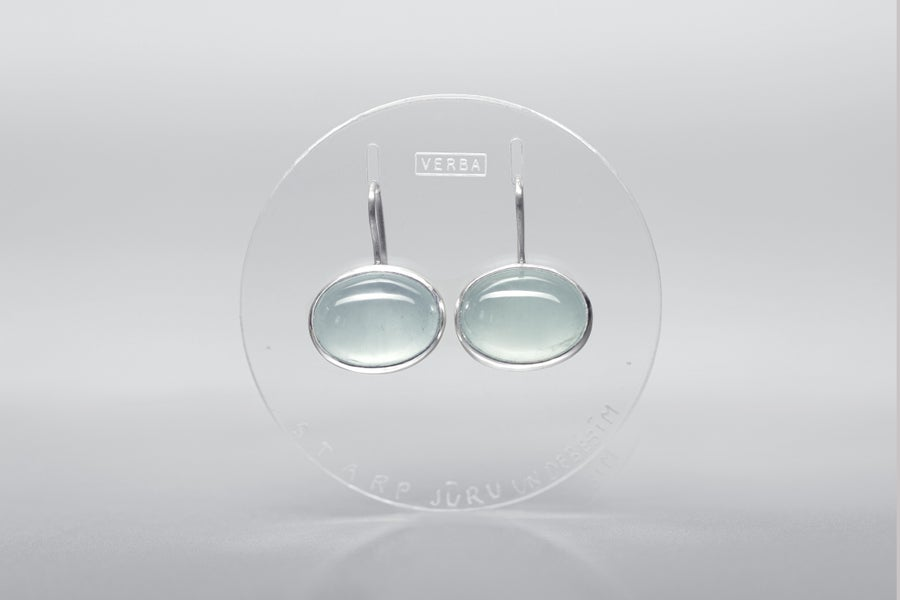 Image of ''Between the sea and the sky'' silver earrings with aquamarines ·  INTER MARE ET CAELUM  ·