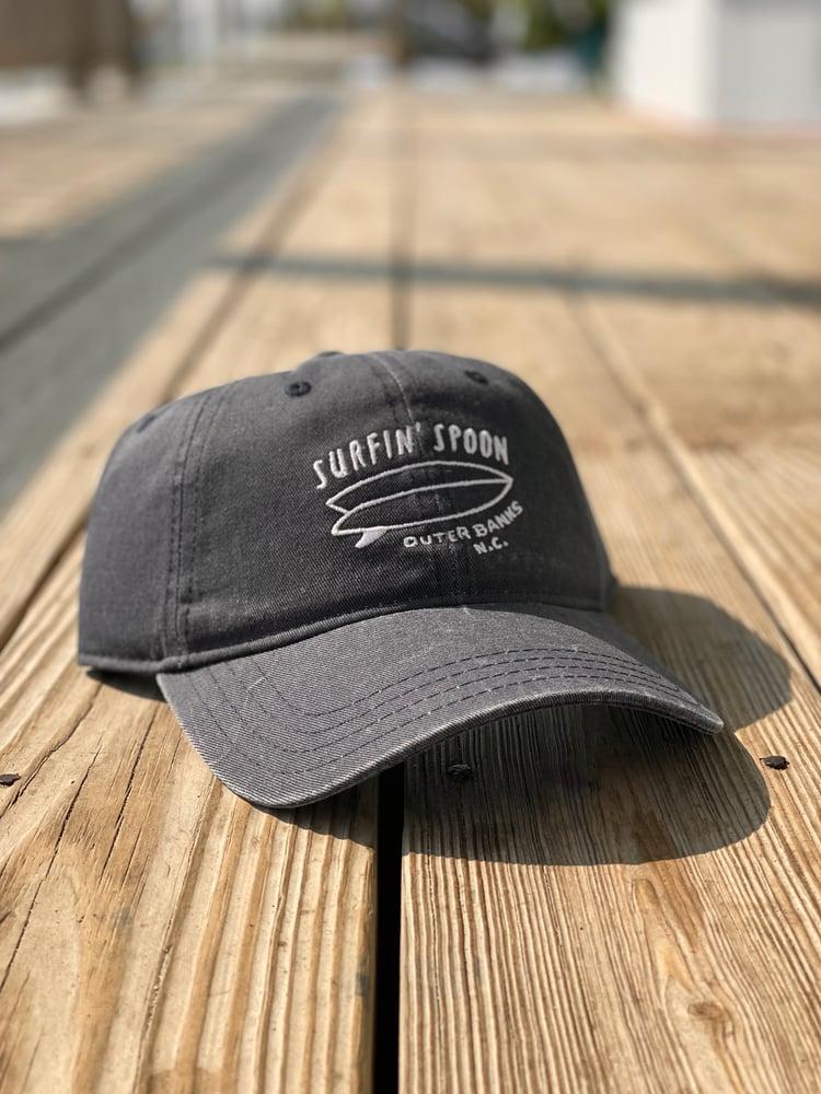 Image of Spoon Surfboard Baseball Cap - Dark Denim
