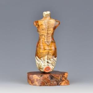 Image of XXL. Peachy Keen Goddess - Flamework Glass Sculpture Bead