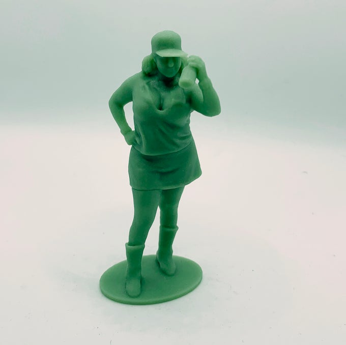 """Image of One person 3D scan session & 3.25"""" figure"""
