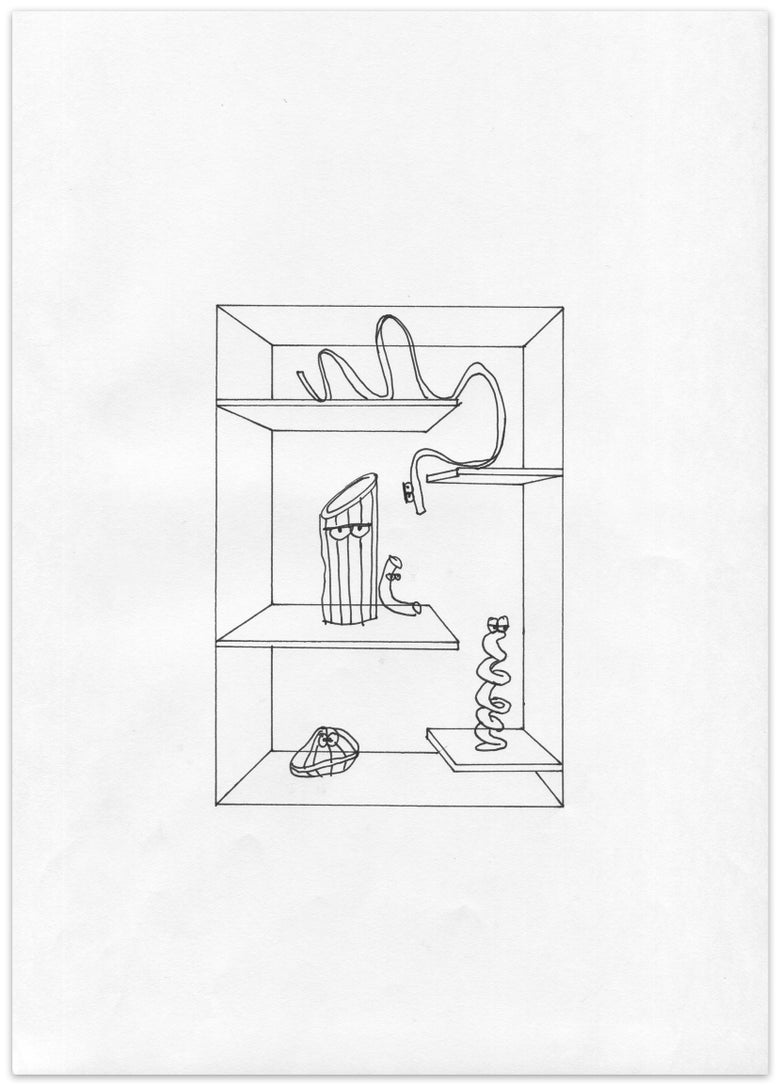 Image of pasta staycation – original drawing