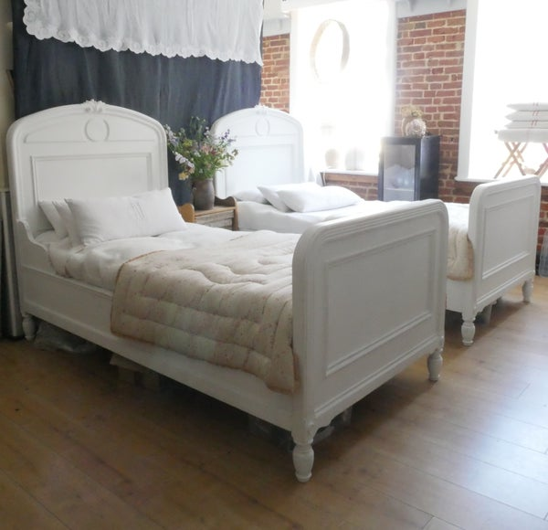 Image of Antique French Twin Beds