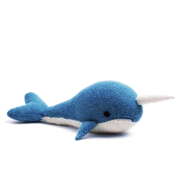 Image of KNIT ALPACA STUFFED NARWHAL