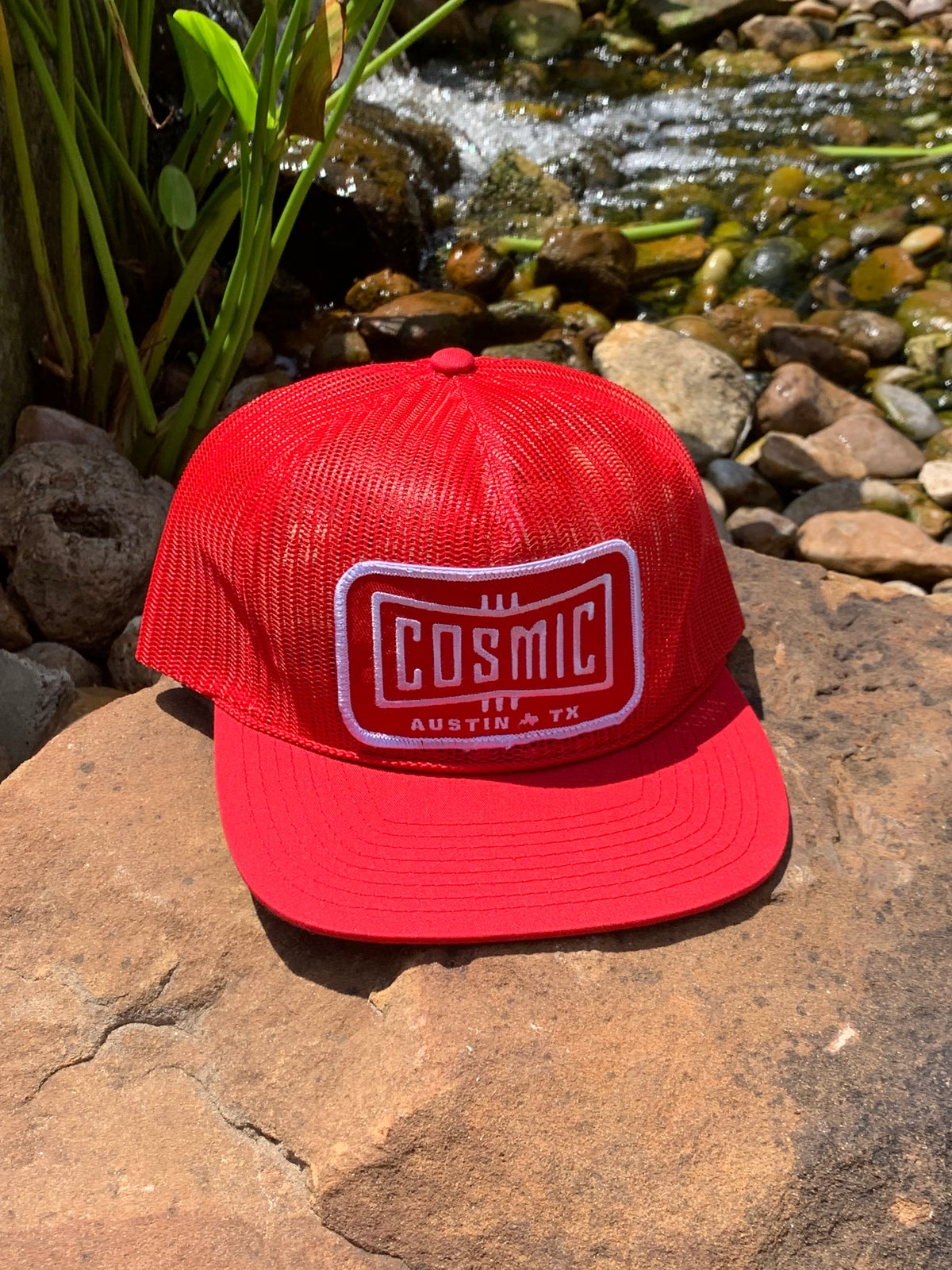 Cosmic Red on Red Patch Snapback