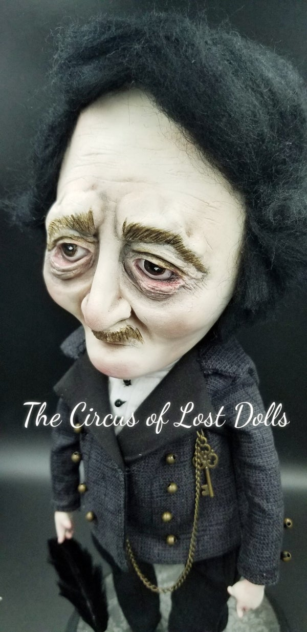 Image of SOLD OUT Edgar Allan Poe art doll