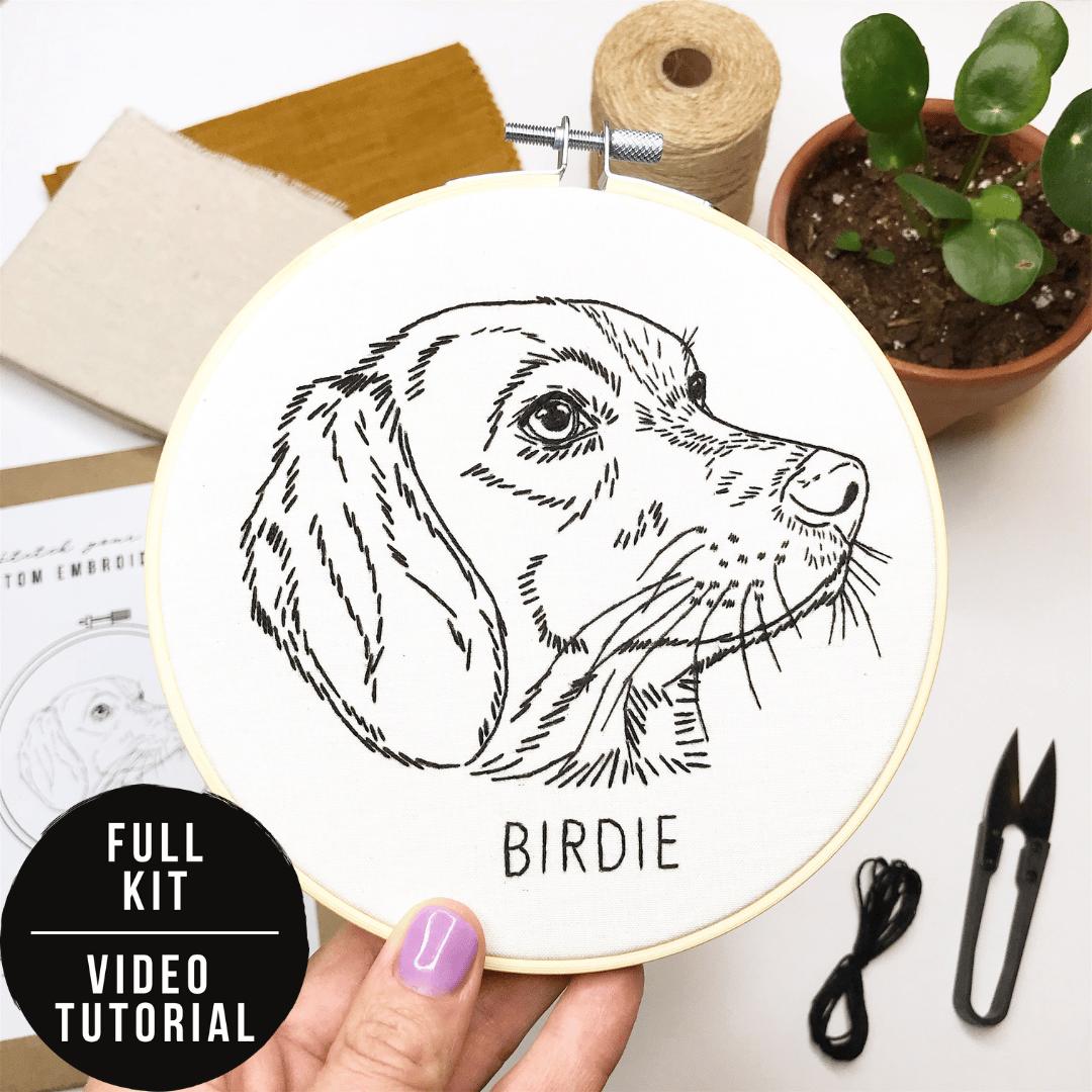Stitch Your Pet! - Custom Pet Portrait Hand Embroidery KIT