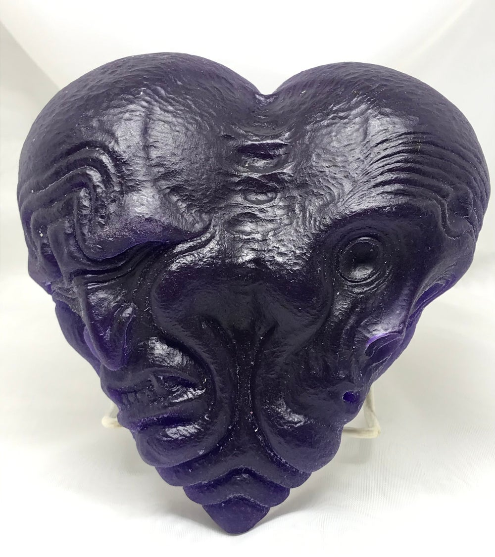 Conjoined Heart Maquette One Off- Translucent Purple