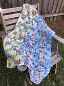 Chunky Crocheted Blanket 'Colour Me Happy'