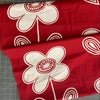 Free Spirit Prints Charming Large Flowers red and white