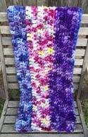 Crocheted Chunky Blanket 'Purple Moon'