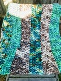 Crocheted Chunky Blanket 'Naturals