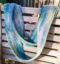 Into the Blue Crocheted Cowl